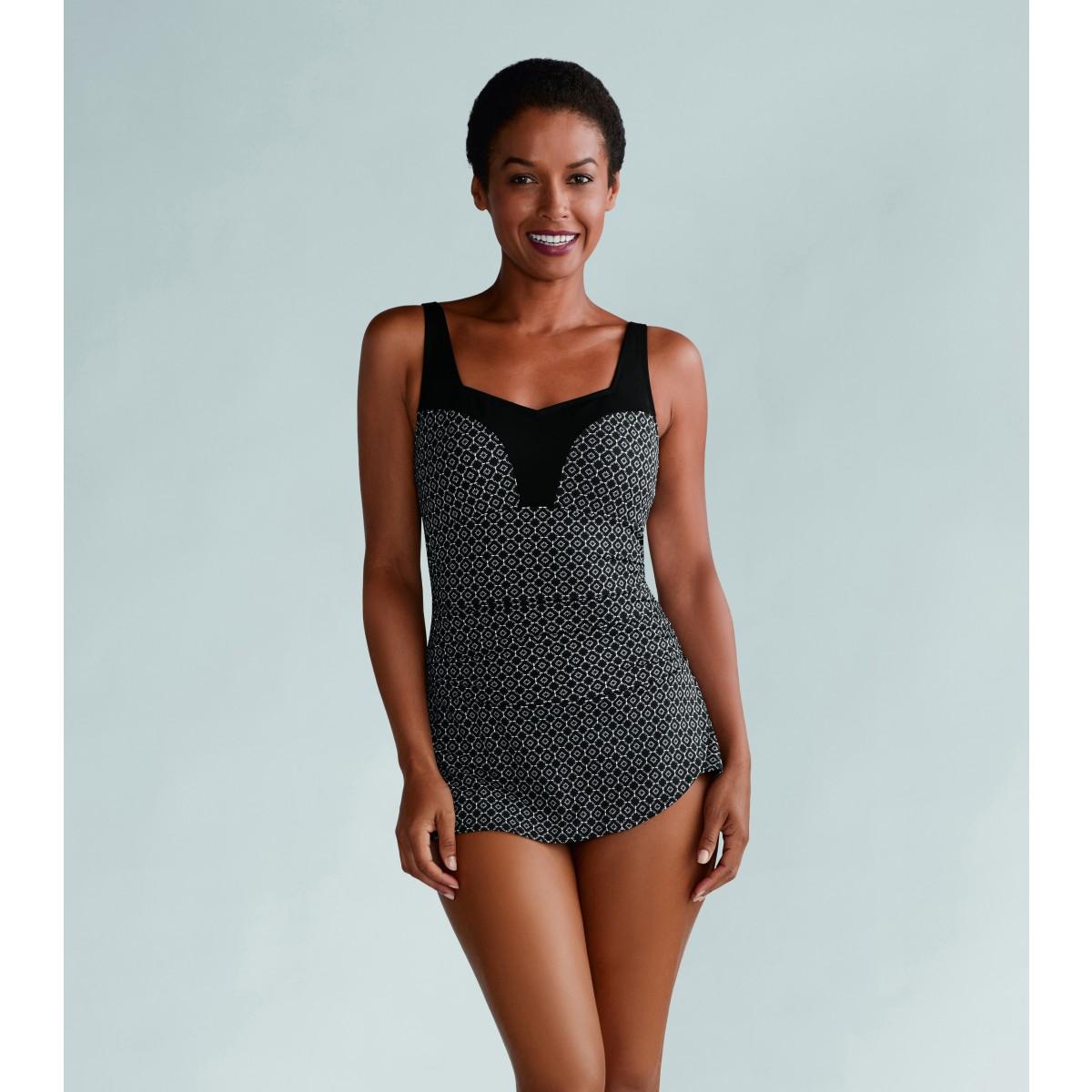 021c25dc722d6e Far - Med - Ayon jednoczęściowy kostium kąpielowy z kieszonkami na ...