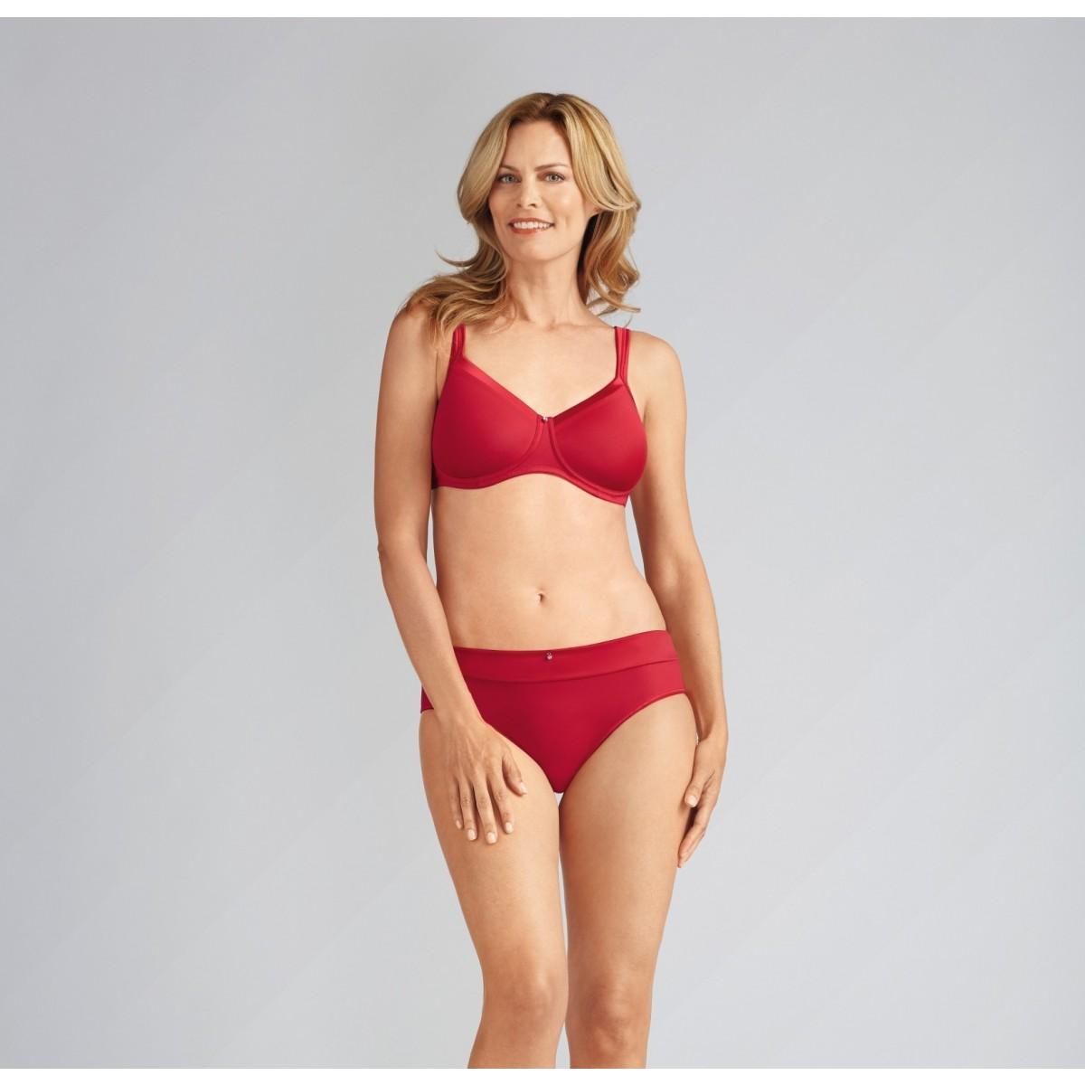 faad31d698f0dd Lara Satin bez fiszbinów – rubinowo-czerwony posezonowa wyprzedaż Amoena!