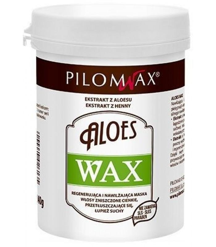 WAX ALOES MASKA nawilżająca do włosów cienkich 240g Pilomax