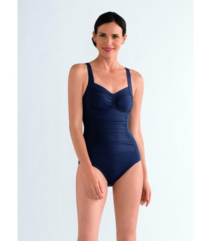 Elegancki granatowy kostium kąpielowy dla amazonki