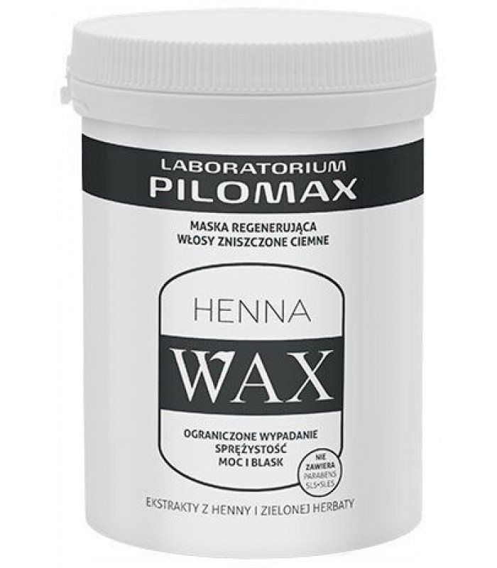 WAX MASKA do włosów suchych i zniszczonych ciemnych 240g Pilomax Nowa niska cena !
